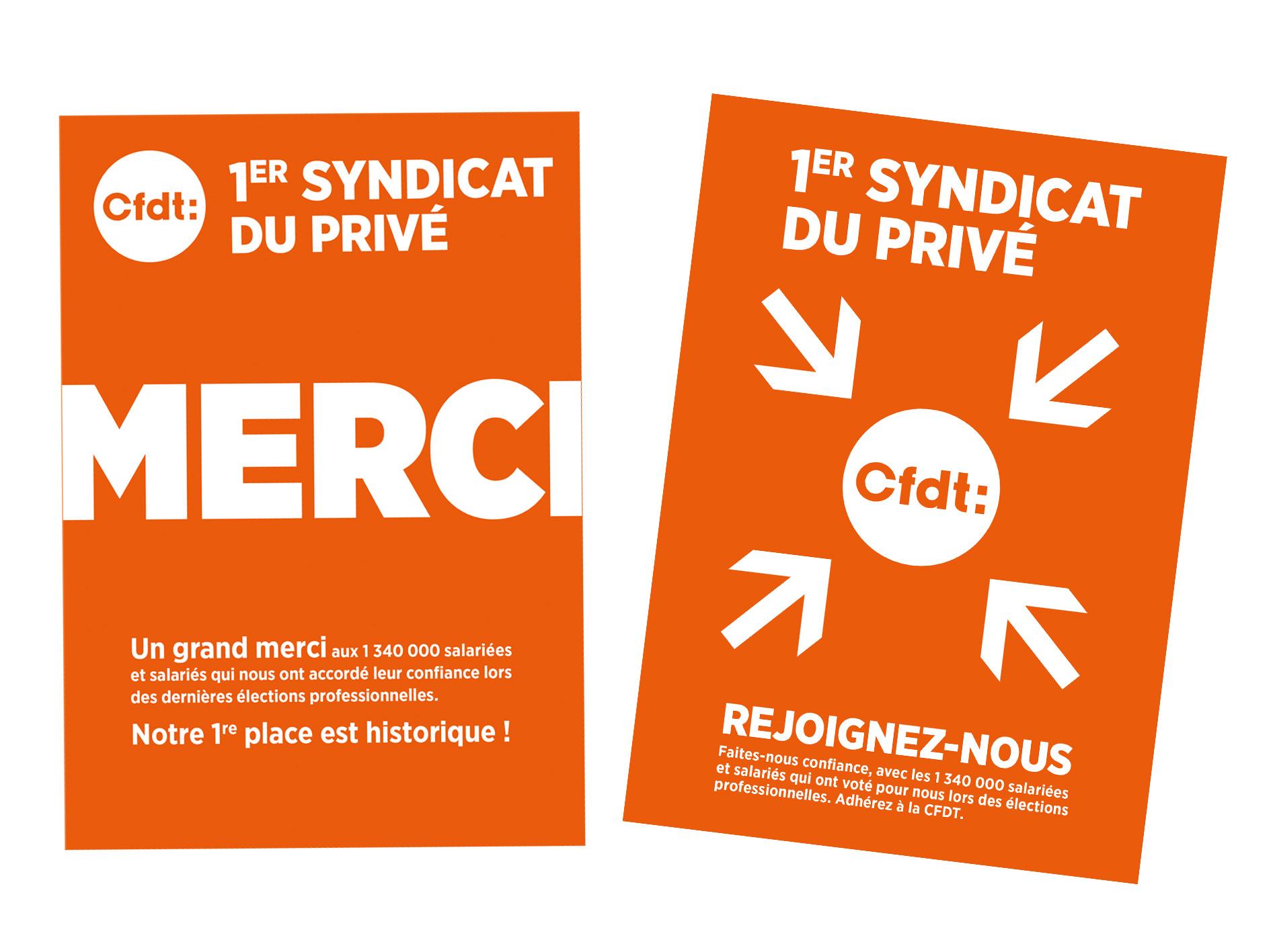 Cfdt 2 Affiches Cfdt 1er Syndicat Du Prive