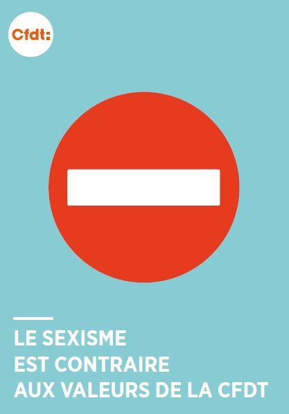 affiche cfdt non au sexisme