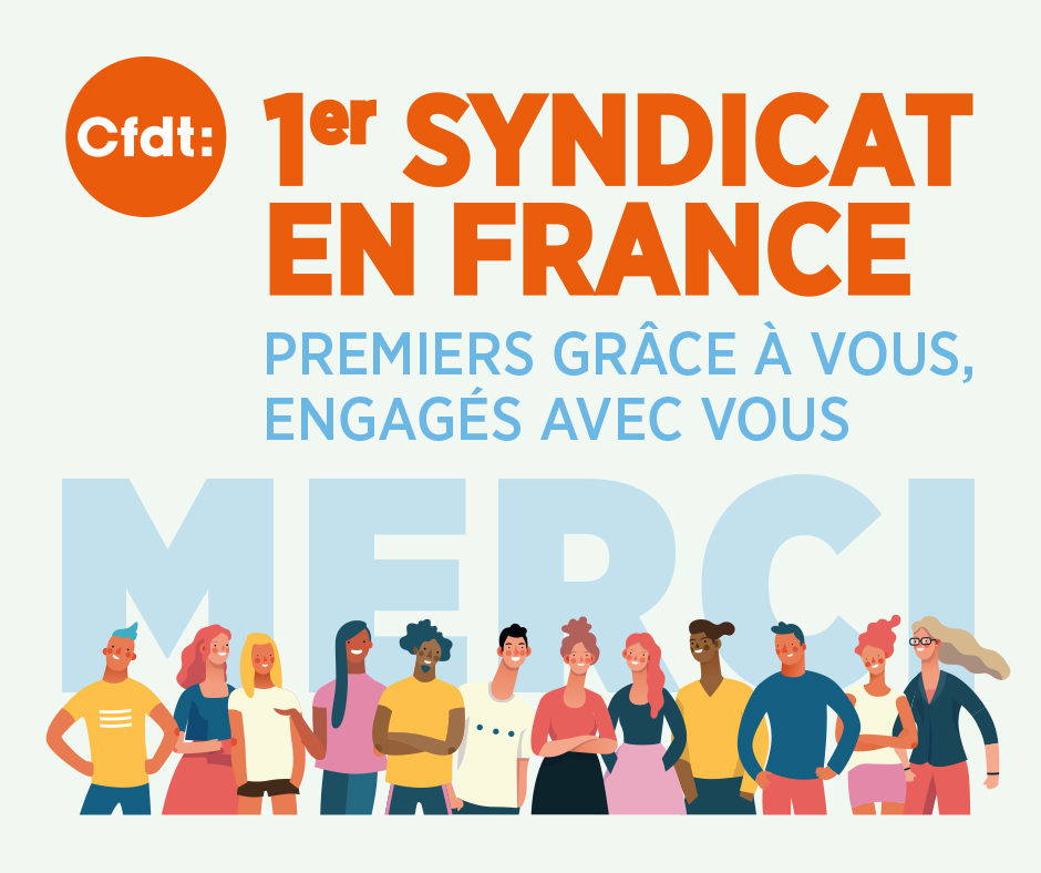 Visuel Merci CFDT 1er syndicat de France