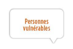 Personnes vulnérables